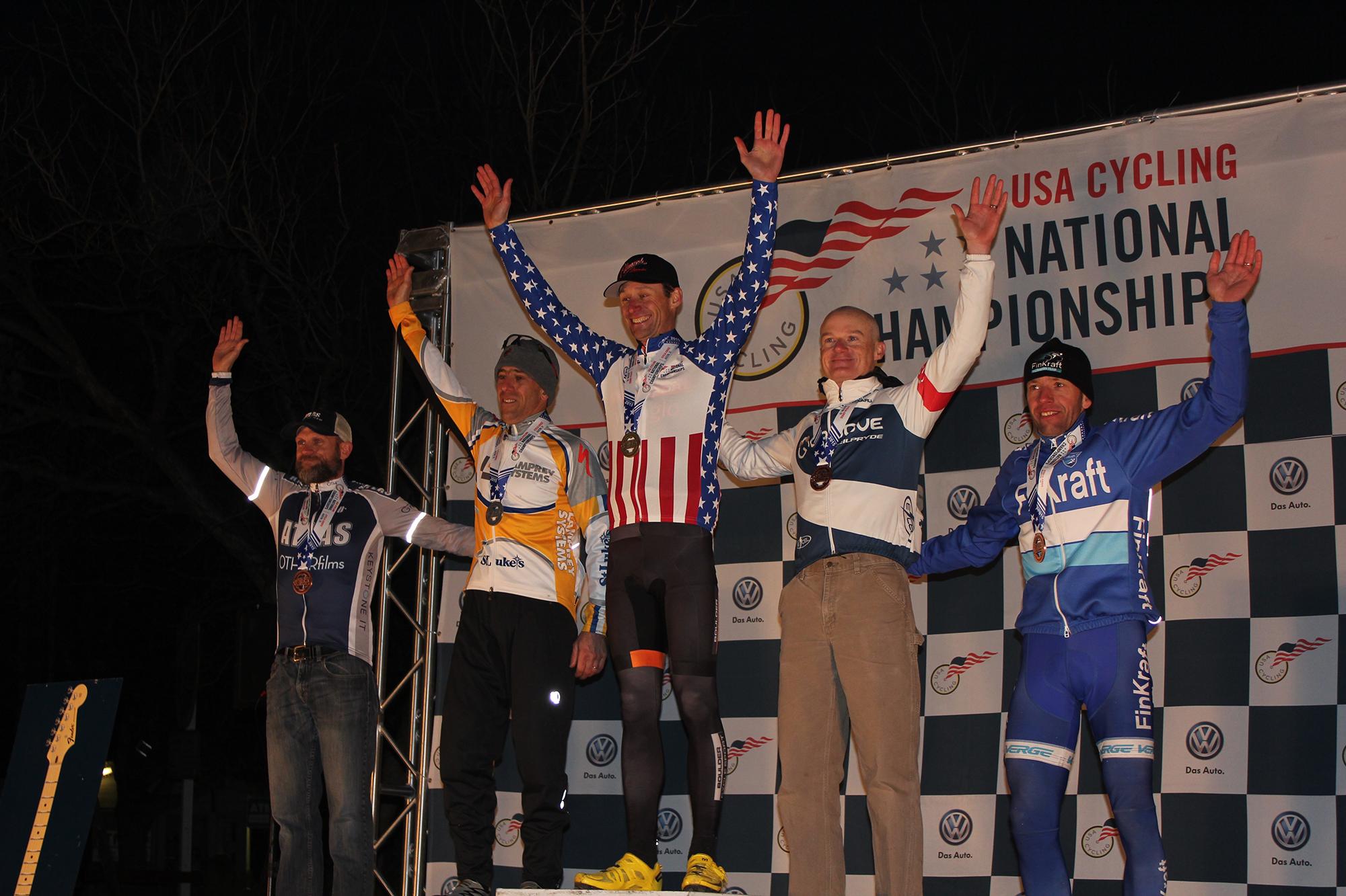 Cross nats podium