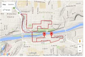 half marathon course